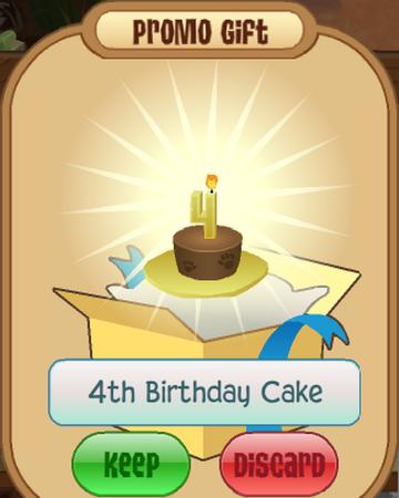 Excellent 4Th Birthday Cake Animal Jam Wiki Fandom Funny Birthday Cards Online Elaedamsfinfo