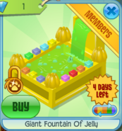 BHS Giant Fountain Of Jelly yellow