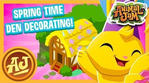Decorating the Spring Cottage! Den Decorations Animal Jam
