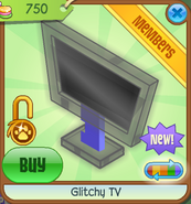 Shop Glitchy-TV Black