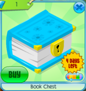 Book Chest Blue