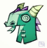 Dragon mask concept art