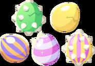 Five eggs artwork