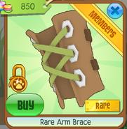 Rare arm brace