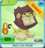Diamond-Shop Giant-Lion-Plushie Yellow