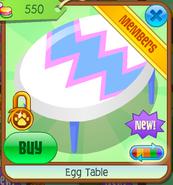 Egg Table - white