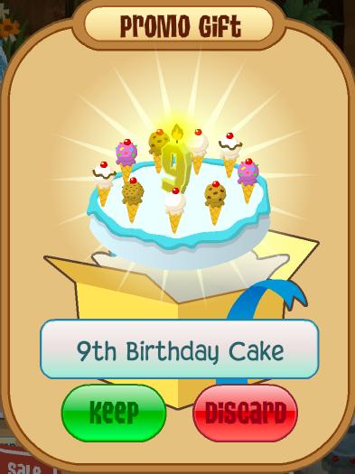 Fantastic 9Th Birthday Cake Animal Jam Wiki Fandom Funny Birthday Cards Online Benoljebrpdamsfinfo