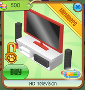 HD Television red