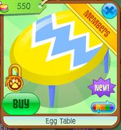 Egg Table - yellow