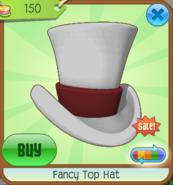 Hat-Shop Fancy-Top-Hat White