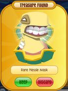Yellow rare nessie mask
