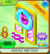 Abstract Wall Clock Yellow
