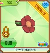 Shop Flower-Bracelet Red