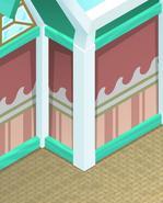 Beach-House Pink-Striped-Walls