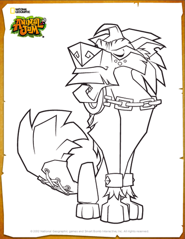 Image  Greely coloring pagepng  Animal Jam Wiki  FANDOM