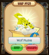 The-Claw Wolf-Plushie Yellow