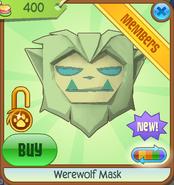 Werewolf Mask new green