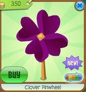 Clover Pinwheel purple