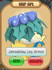Jamaaliday Leg Armor Blue Cyan