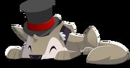 Coyote art fancy top hat