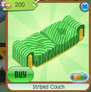 Striped Couch (Leaf-Green)