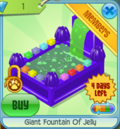 BHS Giant Fountain Of Jelly purple