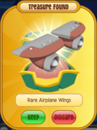 Orange Rare Airplane Wings