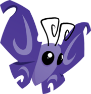 Pet butterfly purple