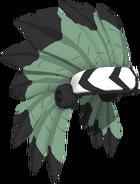 Dark Green Headdress