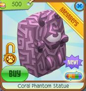 Sunken-Treasures Coral-Phantom-Statue Pink