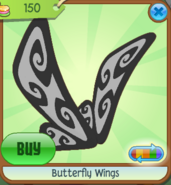 Butterfly Wings black