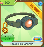 Steampunk Monocle olive