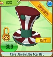 Rare Jamaaliday Top Hat