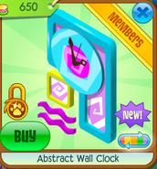 Abstract Wall Clock Blue