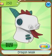Dragon Mask white