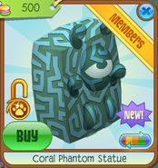 Sunken-Treasures Coral-Phantom-Statue Blue