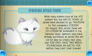 Traveling arctic foxes