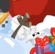 Pure white wolf plushie