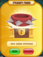 TFD-Prize Rare-Spiked-Wristband red-short