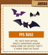 Pet Bats 2018 jamaa journal