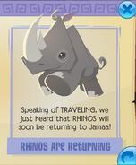 Rhinos are returning