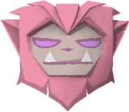 Rare werewolf mask pink