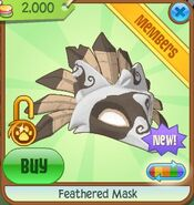 Feathered Mask brown