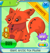 Giant Arctic Fox Plushie 2