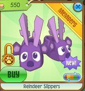 Reindeer slippers purple