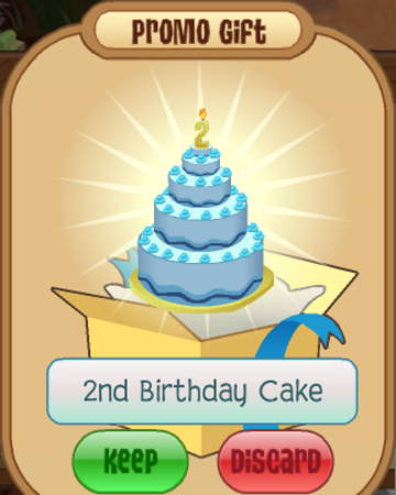 Brilliant 2Nd Birthday Cake Animal Jam Wiki Fandom Funny Birthday Cards Online Inifodamsfinfo