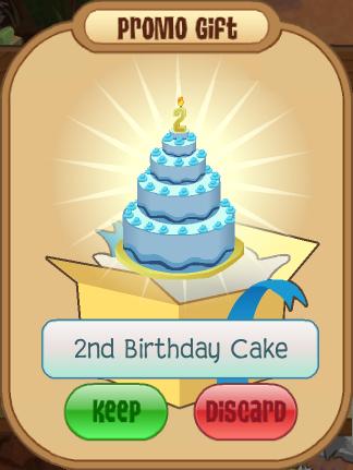 Fine 2Nd Birthday Cake Animal Jam Wiki Fandom Funny Birthday Cards Online Chimdamsfinfo