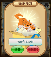 The-Claw Wolf-Plushie Orange