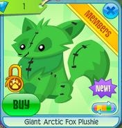 Giant Arctic Fox Plushie 3