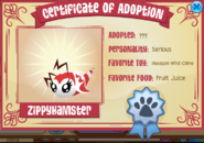 Pet bee certificate